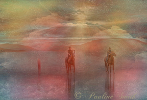 Horses in the Mist by Pauline Smith, Open Image of the Night, May 2014