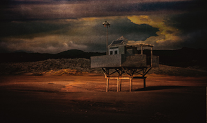 Life Guards Hut by Pauline Smith, Open Image of the Night, Jun 2016