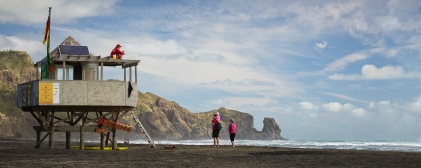 Watching over Bethells Beach by Bryan Lay Yee