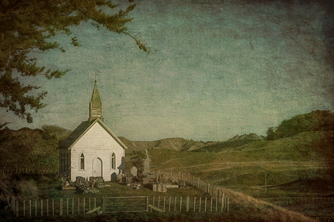 Rural Church by Lynn Fothergill, Open Image of the Night